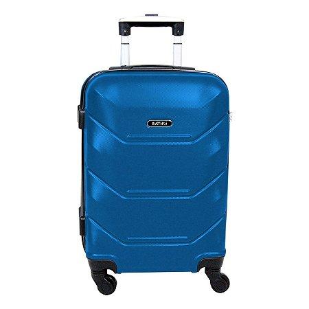 Mala de viagem pequena Batiki Siena Abs rodas 360 Azul