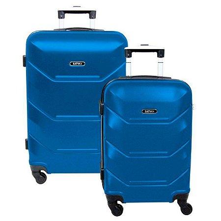 Mala de viagem pequena e média giro 360 Batiki Siena Azul