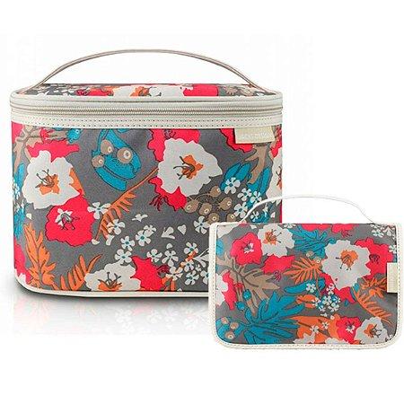 Duas Necessaires Viagem Floral Bege Miss Douce Jacki Design