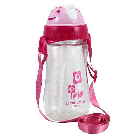 Squeeze com tampa canudo coleção Sapeka Flor Pink460ml