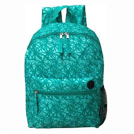 Mochila escolar de costas estampada em verde Cruzeiro