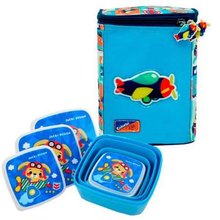Lancheira Térmica Infantil com Potes Adventure Kids Colorizi