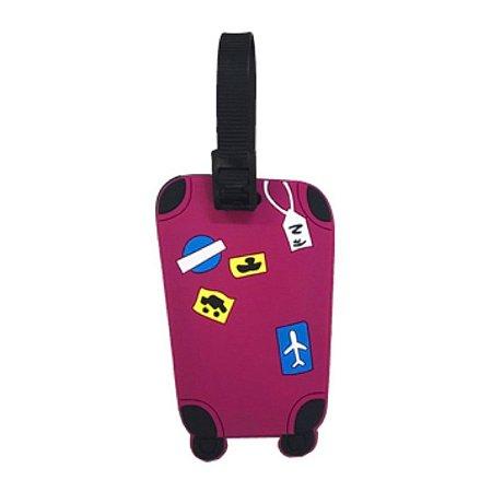 Identificador de Mala etiqueta de bagagem Rosa Cruzeiro