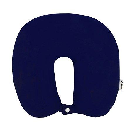 Almofada de Pescoço com Botão de Pressão Azul Marinho Cruzeiro
