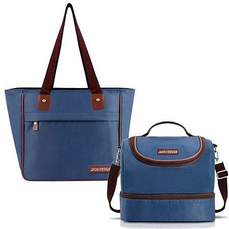 Kit Bolsa Essencial com lancheira Térmica Azul Jacki Design