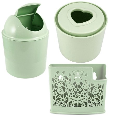 Kit de acessórios para banheiro 3 peças verdes Jacki Design
