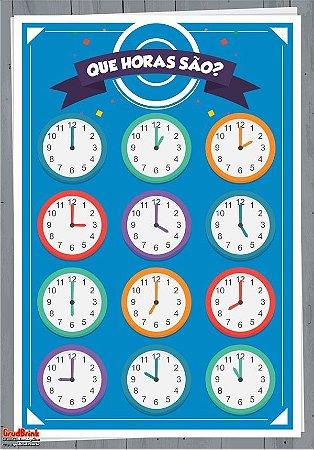 Banner Para Sala de Aula Relógios Analógicos