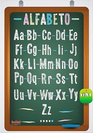 Banner Para Sala de Aula Alfabeto na Lousa