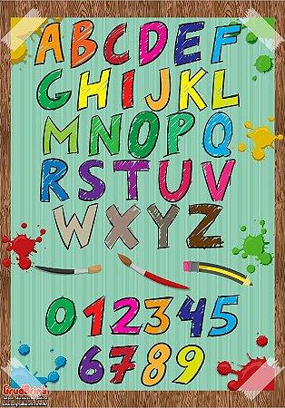 Banner Para Sala de Aula Alfabeto Lápis de Cor