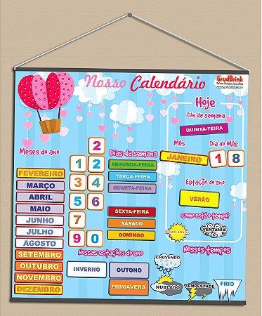 Cartaz para sala de aula Calendário Chuva de amor