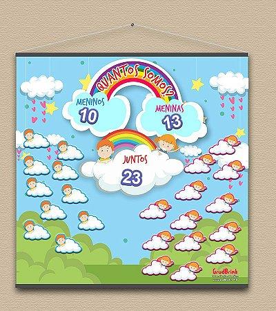 Cartaz Para Sala de Aula Quantos Somos - Chuva de Amor