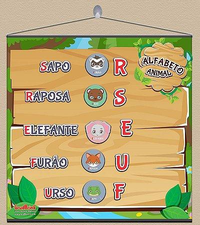 Cartaz Para Sala De Aula Alfabeto Animal