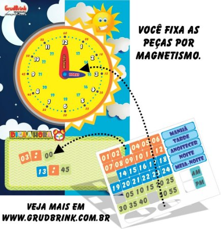 Cartaz Para Sala De Aula Aprendendo as Horas