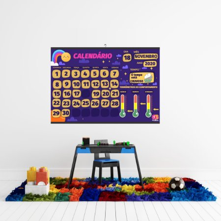 Cartaz Para Sala De Aula Calendário Espacial