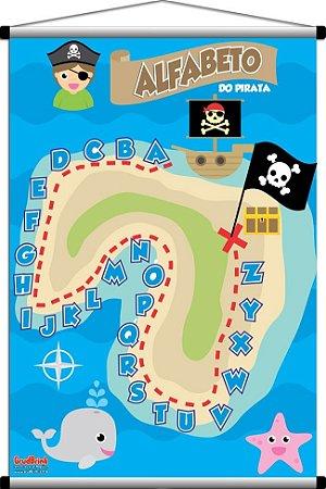 Banner Para Sala de Aula Alfabeto Pirata