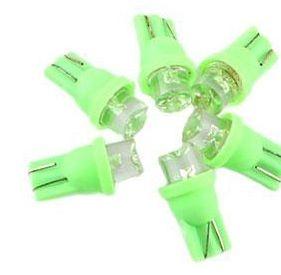 Par de Lâmpadas LED T10 Painel Verde