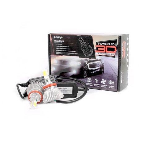 Kit Super Led Headlight 3D H8 3600 lumens