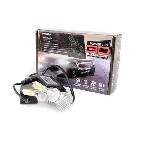Kit Super Led Headlight 3D H27 3600 lumens