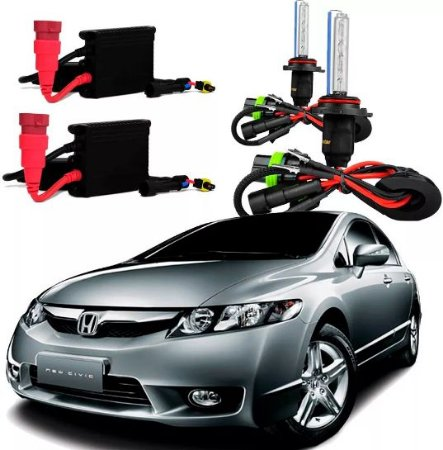 Kit Xenon Honda New Civic 07/11 Farol Alto Hb3 (9005) 6000k
