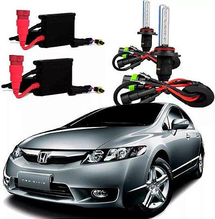 Kit Xenon Honda New Civic 07/11 Farol Alto Hb3 (9005) 6000k
