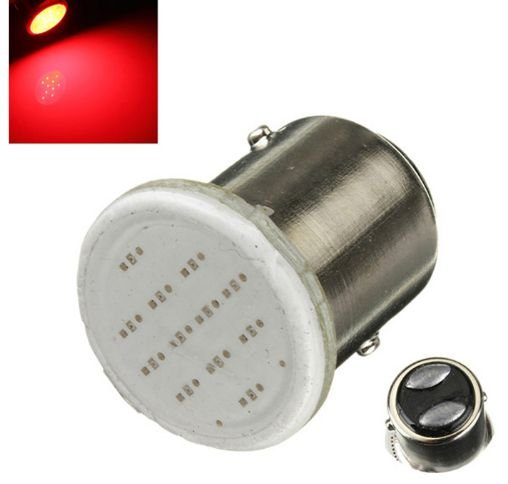 Lâmpadas Led Lanterna Freio Cob 2 Polos 1157 Vermelho