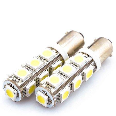 Lâmpadas BA9S Led T4W 5050 smd 13 Leds 6000K Branco 12V