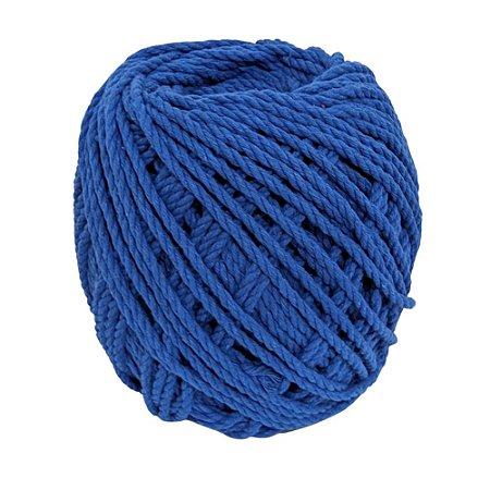 Cordão de Algodão Torcido São Francisco Azul Royal 120 m