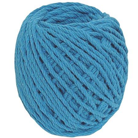 Cordão de Algodão Torcido São Francisco Azul Turquesa 120 m