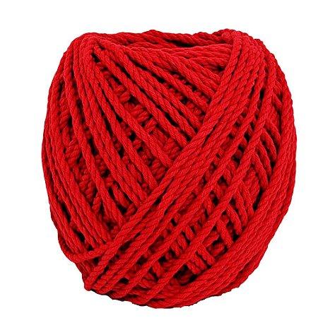 Cordão de Algodão Torcido São Francisco Vermelho 120 metros