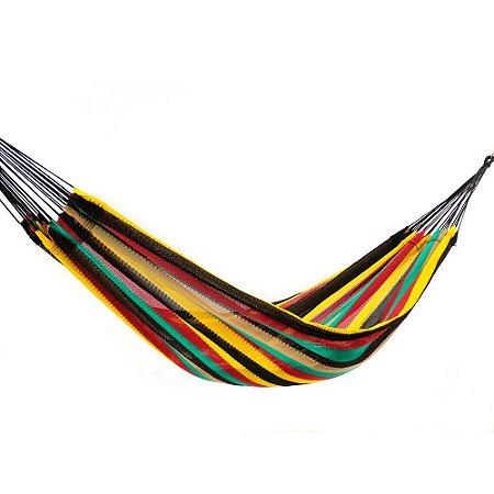 Rede de Dormir Amazonas Nylon Listrado Modelo Jamaica