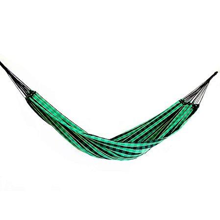 Rede de Dormir Básica Xadrez Preto com Verde