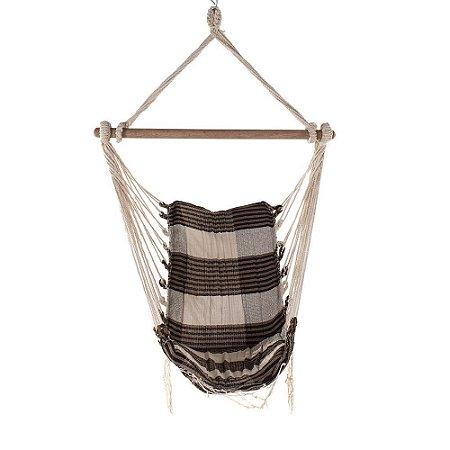 Rede Cadeira Mesclada Bege com Marrom