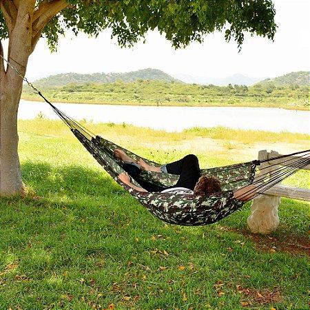 Rede de Dormir e Descanso Camping Camuflada Exercito