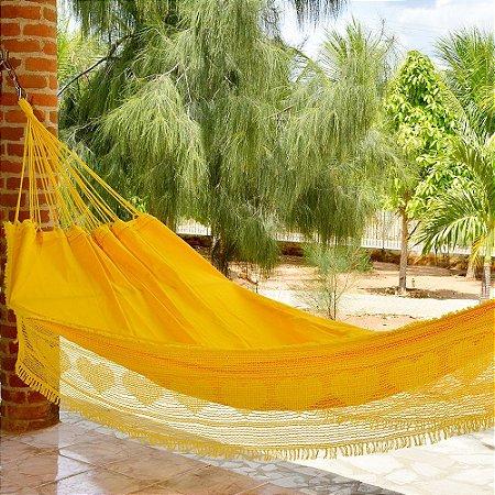 Rede de Dormir Casal Sol a Sol Amarela