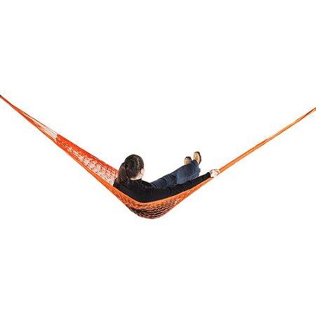 Rede de Dormir e descanso Camping Nylon Impermeável Laranja
