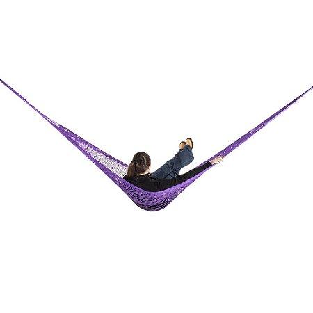 Rede de Dormir e descanso Camping Nylon Impermeável Lilas