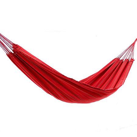 Rede de Dormir Tropical Vermelha Listrada