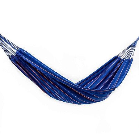Rede de Dormir Lonada Azul Listrado