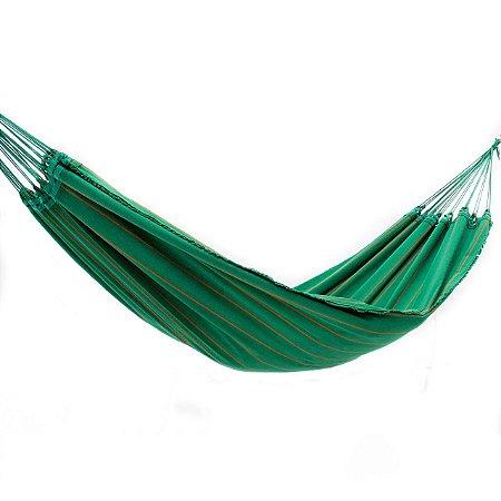 Rede de Dormir Lonada Verde Listrado