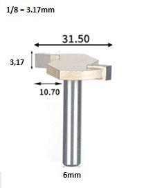 Fresa T Serrinha Debrum Serrinha T Haste 6mm Corte 1/8 ( Perfil T)