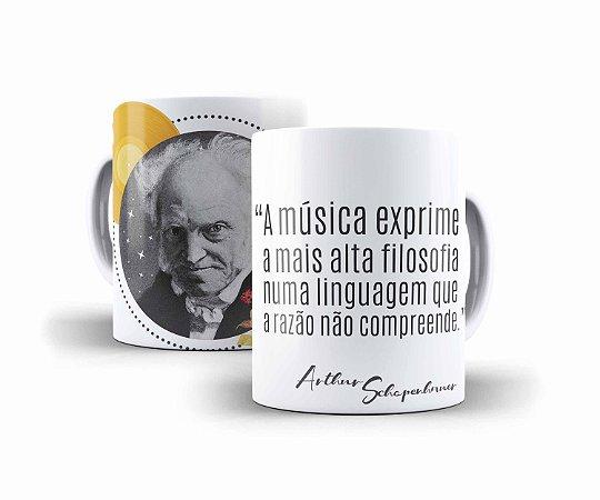 """Caneca Schopenhauer """"A Música Exprime A Mais Alta Filosofia, Numa Linguagem Que A Razão Não Compreende"""""""