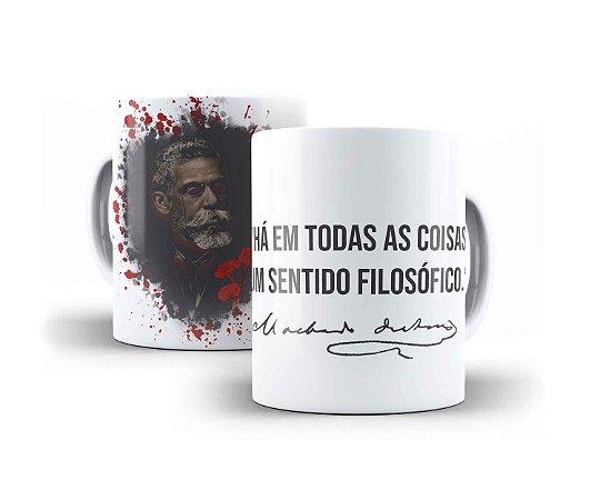 """CANECA MACHADO DE ASSIS """"HÁ EM TODAS AS COISAS UM SENTIDO FILOSÓFICO."""""""