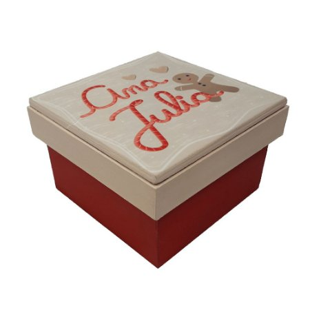 Caixa Presente de Natal Personalizável Doce