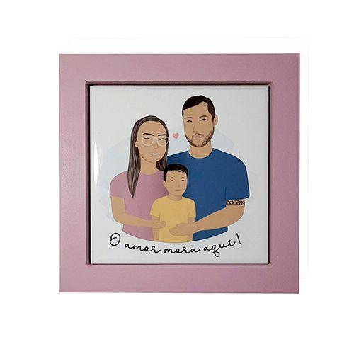 Quadro Personalizado Ilustração da Família