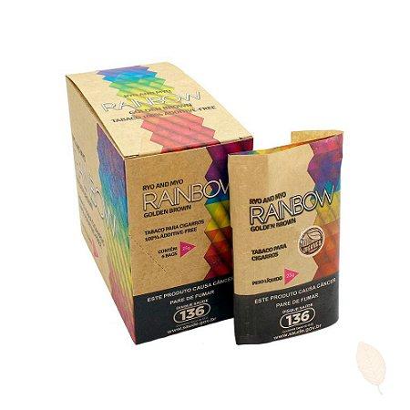 Caixa Tabaco Rainbow Golden Brown Orgânico HiTobacco - 6unid