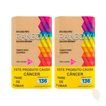 2 Bags Tabaco Rainbow Golden Brown Orgânico Hitobacco 25g