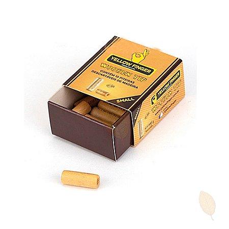 Piteira de Madeira Yellow Finger Small 10 unids.