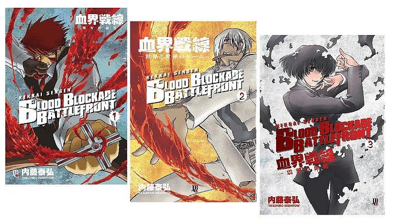 Blood Blockade Battlefront - Volumes 01 ao 03 (Itens novos e lacrados)