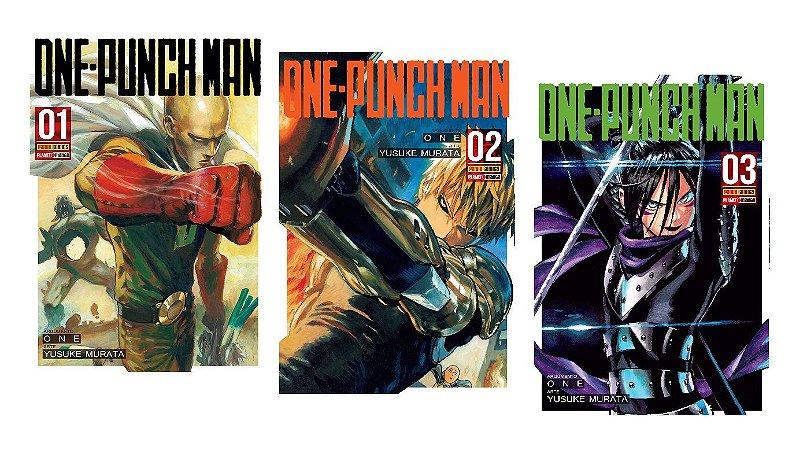 One-Punch Man - Volumes 01, 02 e 03 (Itens novos e lacrados)