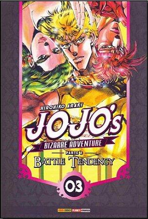Jojo's Bizarre Adventure - Battle Tendency (Parte 2) - Vol. 03 (Item novo e lacrado)